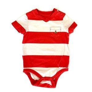 3/$25 GAP Baby Boy Striped VNeck Tee Onesie